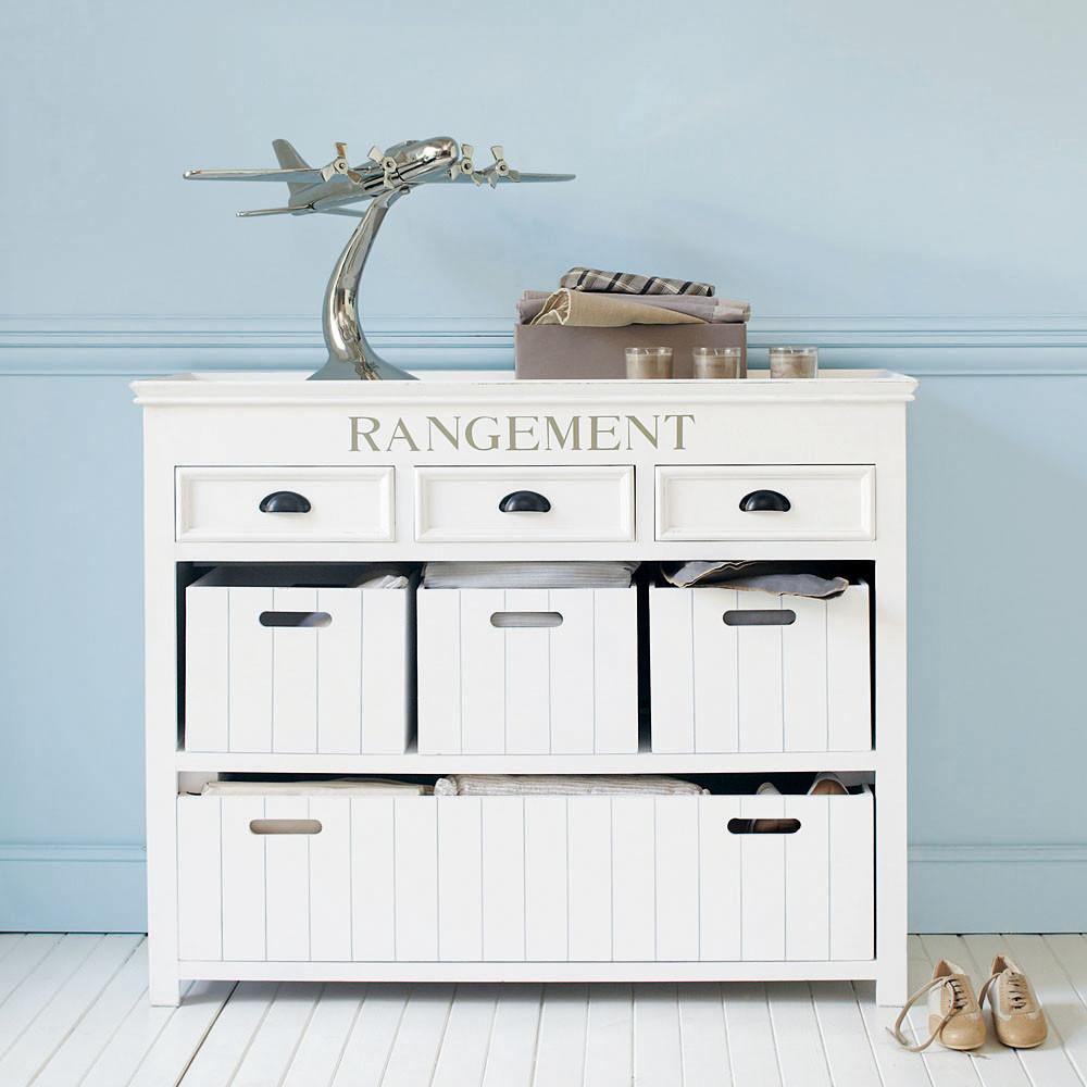 commode blanche avec casiers newport pas cher commode. Black Bedroom Furniture Sets. Home Design Ideas