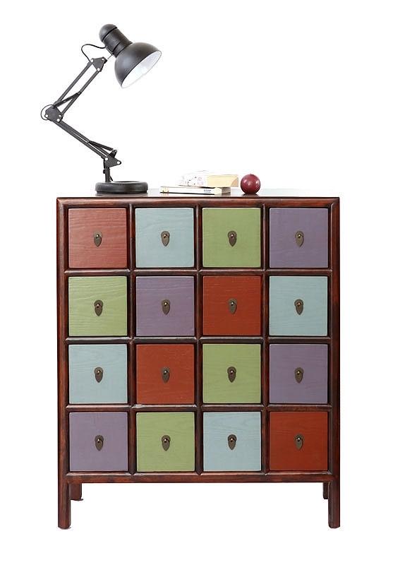 commodes miliboo commode bois multicolore mosaica prix 349 00 euros ventes pas. Black Bedroom Furniture Sets. Home Design Ideas