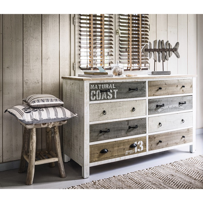 commode en bois blanche noirmoutier commode maisons du monde ventes pas. Black Bedroom Furniture Sets. Home Design Ideas