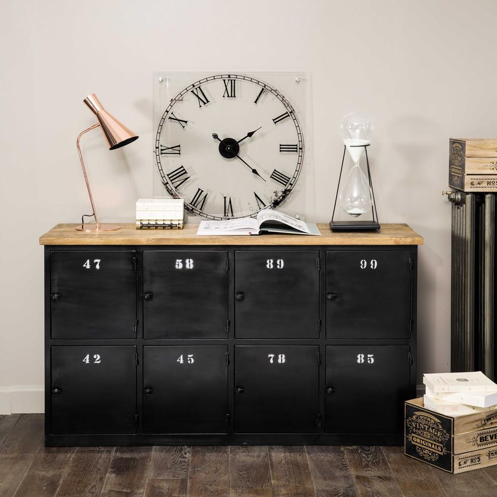 comptoir indus en m tal anthracite al sia buffet maisons du monde ventes pas. Black Bedroom Furniture Sets. Home Design Ideas