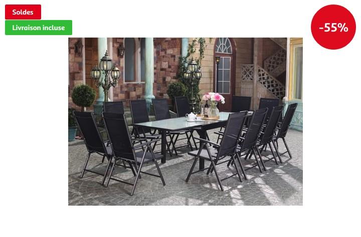 CONCEPT USINE Brescia 12 Ensemble de jardin - Auchan