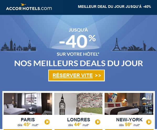 Accor Hotels pas cher
