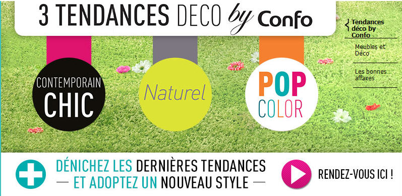 D coration pas cher conforama 5 tendances deco by confo - Coupon reduction delamaison ...