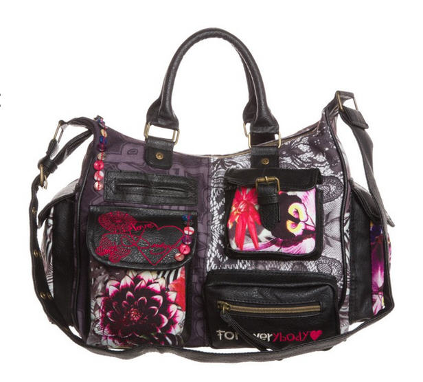 Desigual JUNGLE NIGHT LONDON Sac bandoulière noir - Sacs Zalando