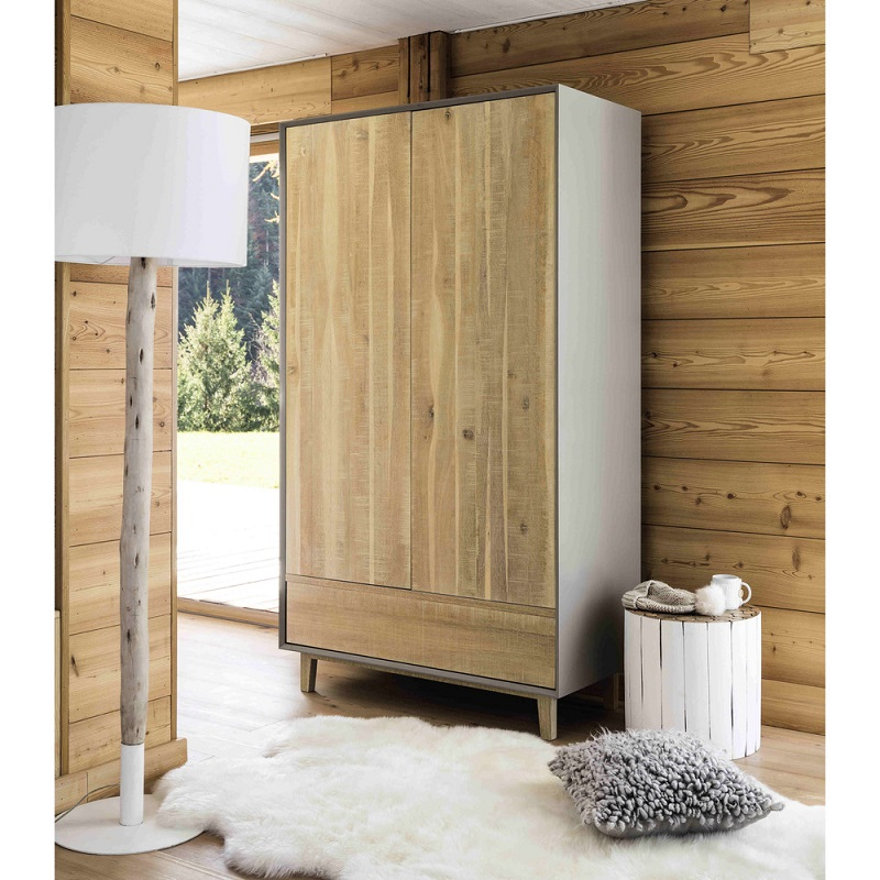 dressing en ch ne vermont pas cher soldes armoire. Black Bedroom Furniture Sets. Home Design Ideas
