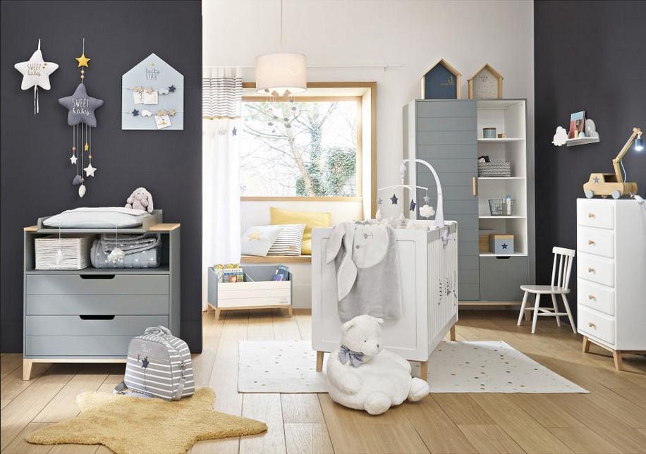 Canapé style scandinave 3 places DUKE gris clair - Maisons du Monde