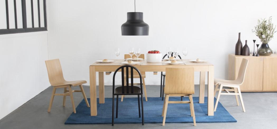 DRIO Table de salle à manger Naturel Bois Habitat - Table Habitat ...