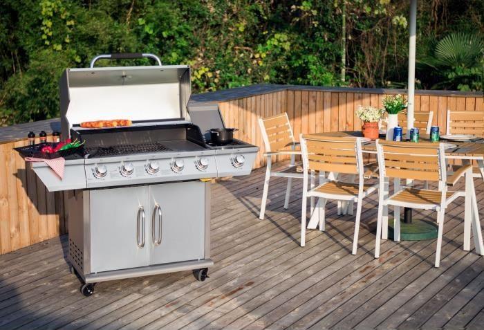 DUKE Barbecue à gaz 5 +1 feux- Grille + Plancha