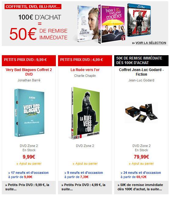 FNAC DVD - Dvd pas cher Fnac à partir de 4.99 €