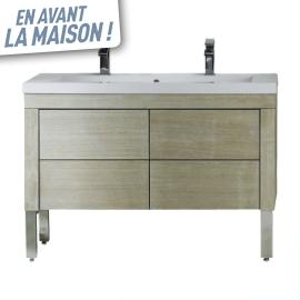 Meuble castorama meuble sous vasque silver 120 cm prix 349 00 euros vente - Meuble sous vasque 120 cm pas cher ...