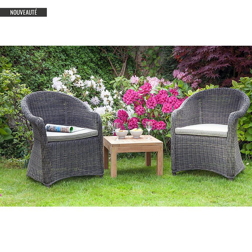 ensemble 2 fauteuils et table basse kent medicis salon de jardin camif ventes pas. Black Bedroom Furniture Sets. Home Design Ideas
