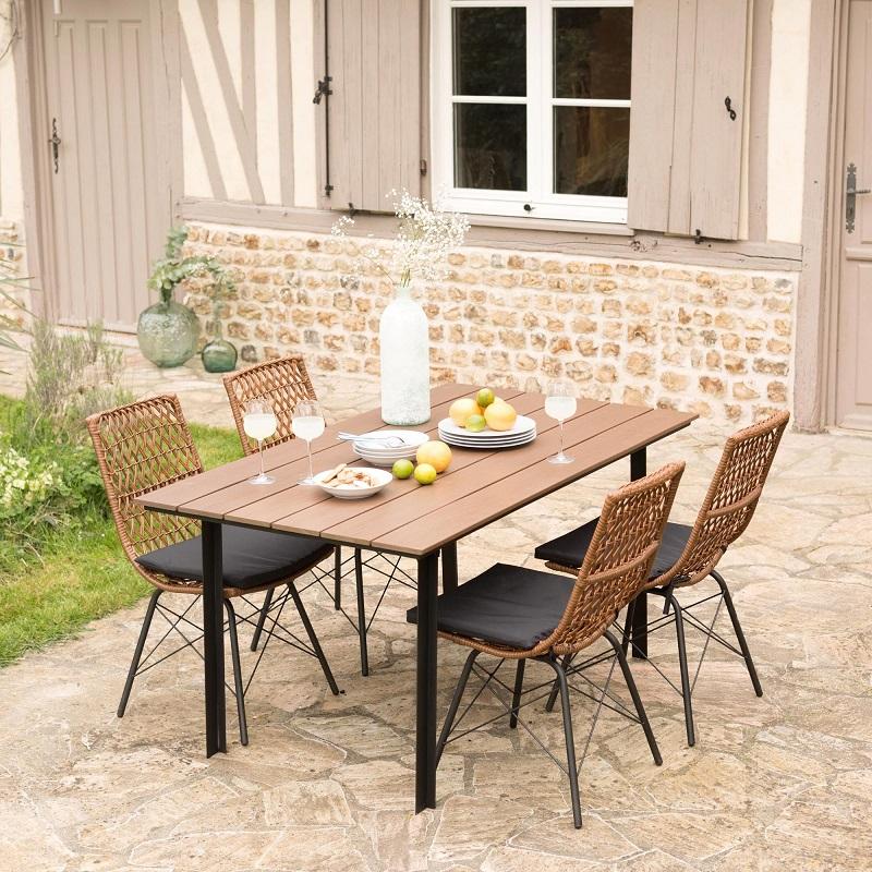 ensemble de jardin 5 pi ces surabaya pas cher salon de. Black Bedroom Furniture Sets. Home Design Ideas