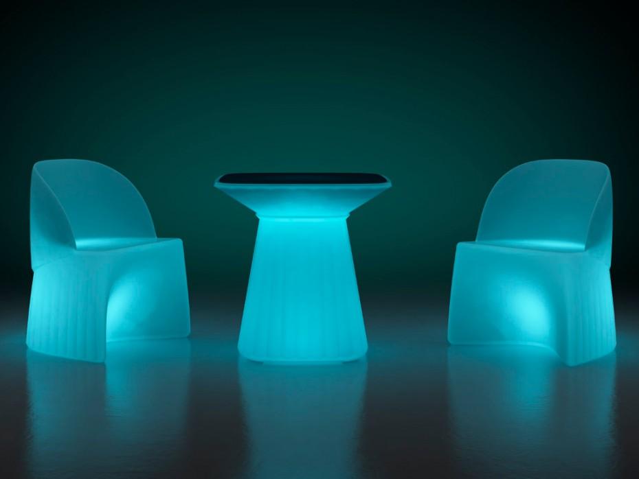 Salon de jardin lumineux KIRUNA à LEDs - Vente Unique