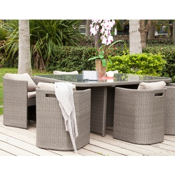 salon de jardin bari 7 l ments gris salon de jardin alin a ventes pas. Black Bedroom Furniture Sets. Home Design Ideas