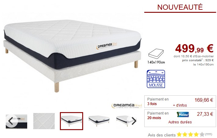 matelas mousse 140x190 pas cher amazing matelas pour canape convertible hr dune x with matelas. Black Bedroom Furniture Sets. Home Design Ideas