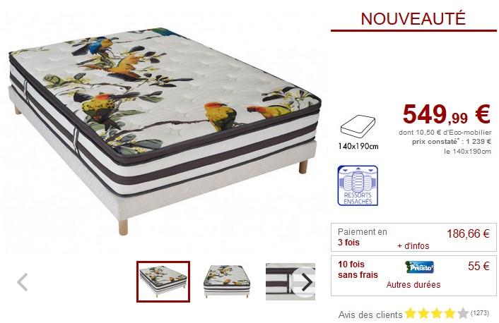 dreamea avis matelas matelas mousse alvolaire olympe de. Black Bedroom Furniture Sets. Home Design Ideas