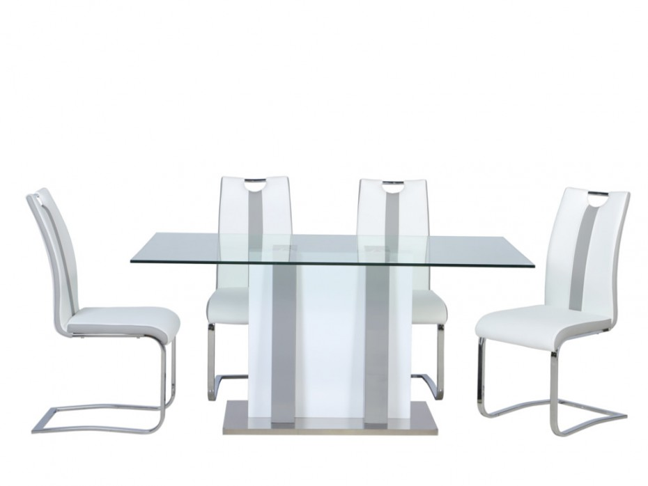 Ensemble table CIARA + 4 chaises MATILDA