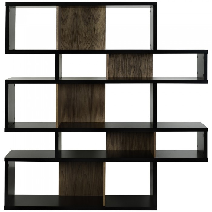 etag re atylia tag re design noire et fond noyer. Black Bedroom Furniture Sets. Home Design Ideas