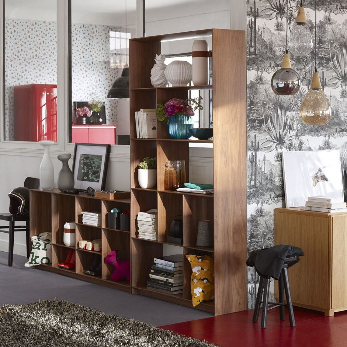 leaf etag re haute en noyer habitat soldes etag re habitat ventes pas. Black Bedroom Furniture Sets. Home Design Ideas