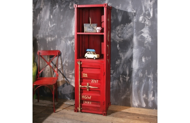 etag res miliboo tag re industrielle m tal rouge cargo ventes pas. Black Bedroom Furniture Sets. Home Design Ideas