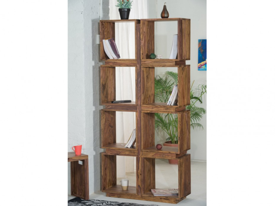 Etag re ketana 8 cases bois de sheesham etag re vente - Etagere en bois pas cher ...