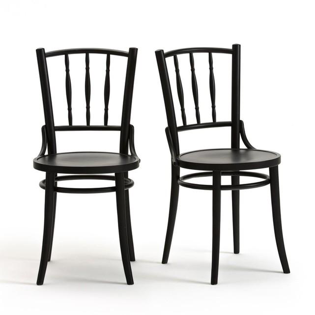 Chaise de bistrot Trocket lot de 2 noire La Redoute