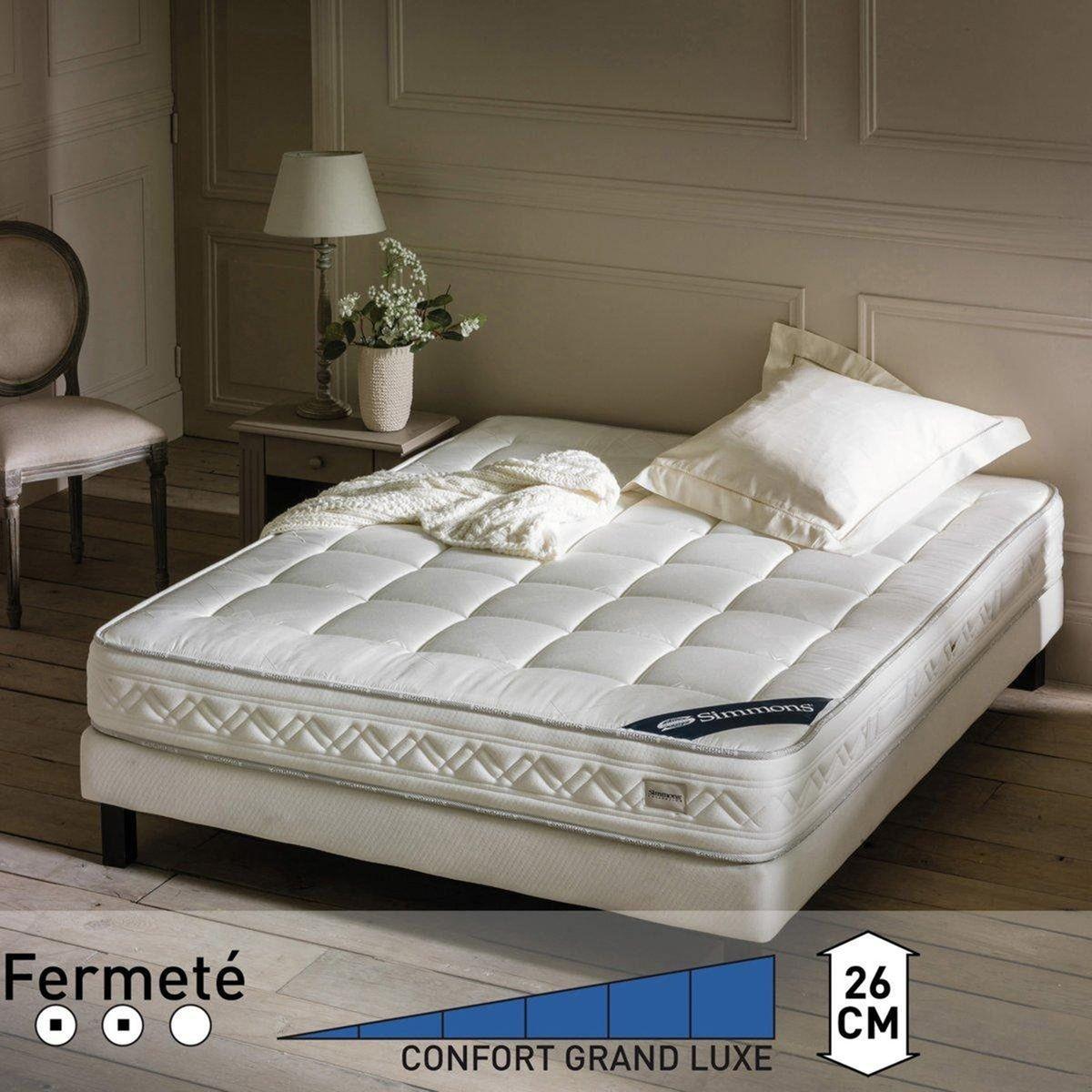 Matelas confort Prestige Ferme 651re blanc Simmons, Matelas La Redoute