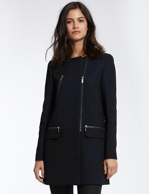 Manteau droit en crêpe Morgan - Manteau Morgan
