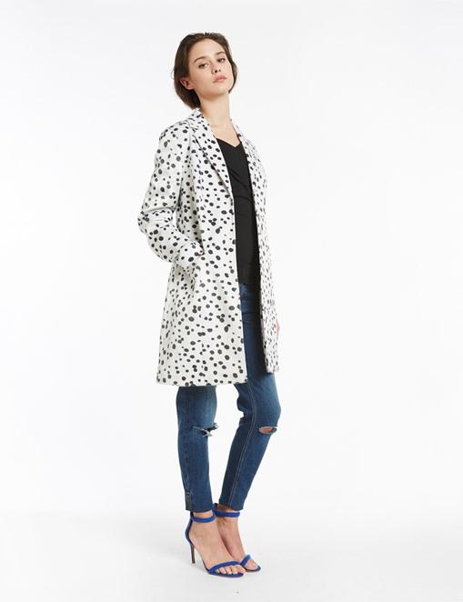 Manteau effet poulain imprimé animalier Morgan