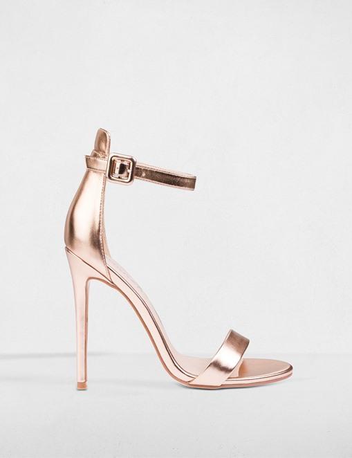 Sandales en simili cuir métallisé Morgan - Sandales Morgan