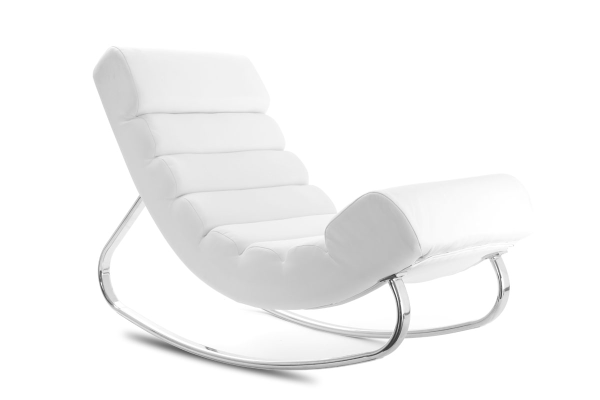 rocking chair moderne blanc. Black Bedroom Furniture Sets. Home Design Ideas