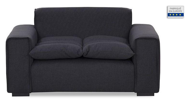 fauteuil design tissu gris fonc mellow pas cher fauteuil miliboo ventes pas. Black Bedroom Furniture Sets. Home Design Ideas
