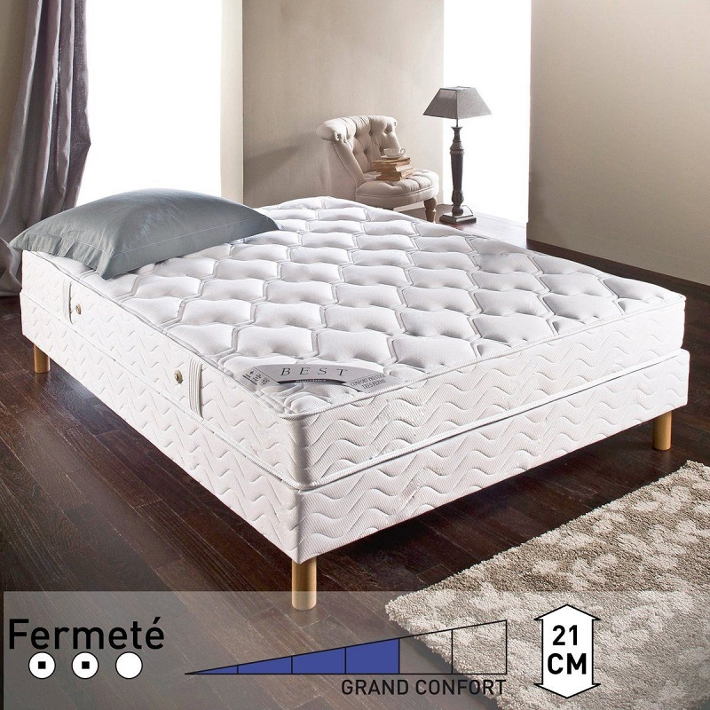 Matelas Best Latex Reverie grand confort ferme blanc