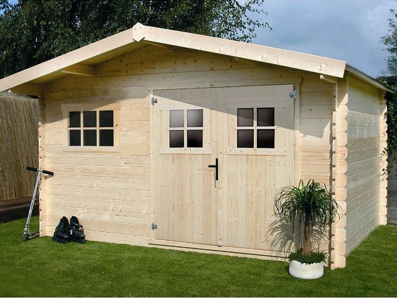 abri jardin bois 19 72 m h j habitat et jardin pas cher. Black Bedroom Furniture Sets. Home Design Ideas