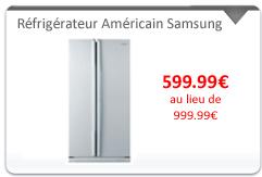 Réfrigérateur Américain Samsung Prix promo 599,99 Euros sur CDISCOUNT