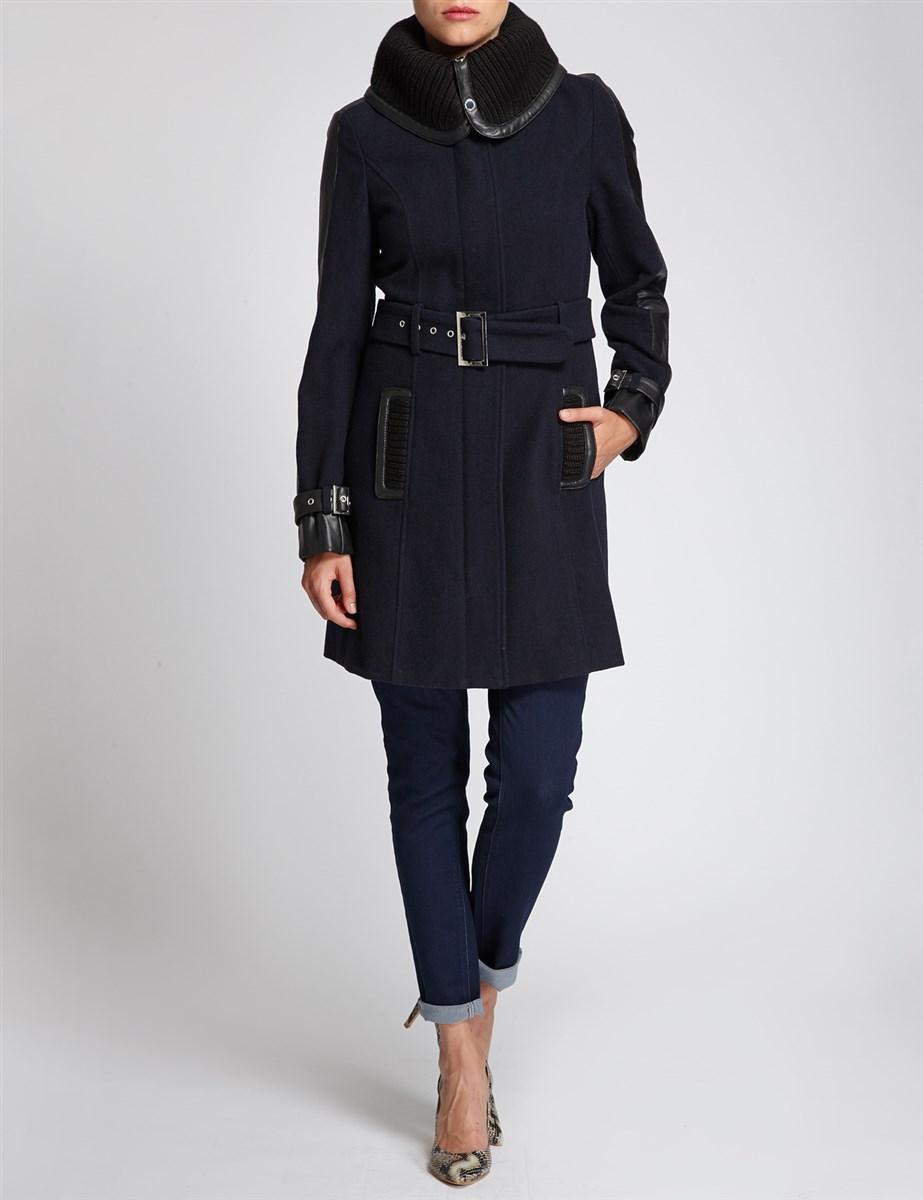 manteau large col taille cintr e morgan manteau morgan ventes pas. Black Bedroom Furniture Sets. Home Design Ideas