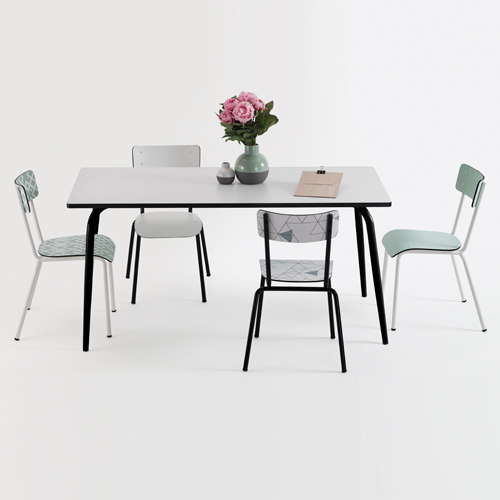 table manger formica les gambettes table manger decoclico ventes pas. Black Bedroom Furniture Sets. Home Design Ideas