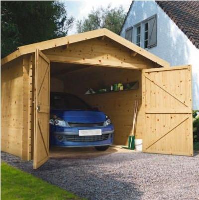 Garage bois Blooma Arne 13 m² - Castorama