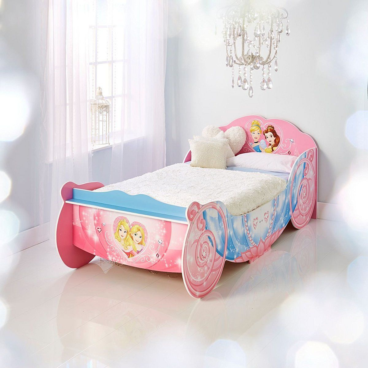 Worlds apart lit junior carrosse princesses disney 90 190 cm rose lit enfant rue du commerce - Lit carrosse pas cher ...