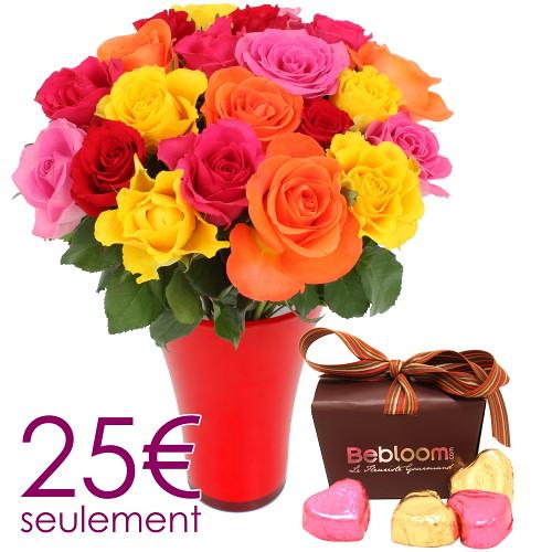 Fleurs pas cher bebloom cadeau la triple surprise prix for Livraison fleurs pas cher 10 euros