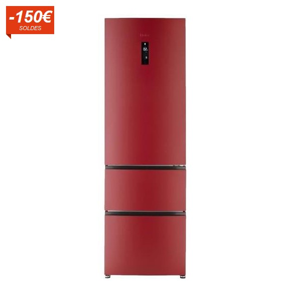 HAIER FE600CR Réfrigérateur multi-portes 347L, Soldes Réfrigérateur Cdiscount