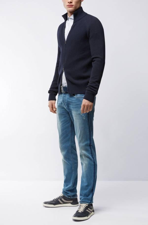 Jeans Tapered Fit Orange90 en denim super stretch Hugo Boss