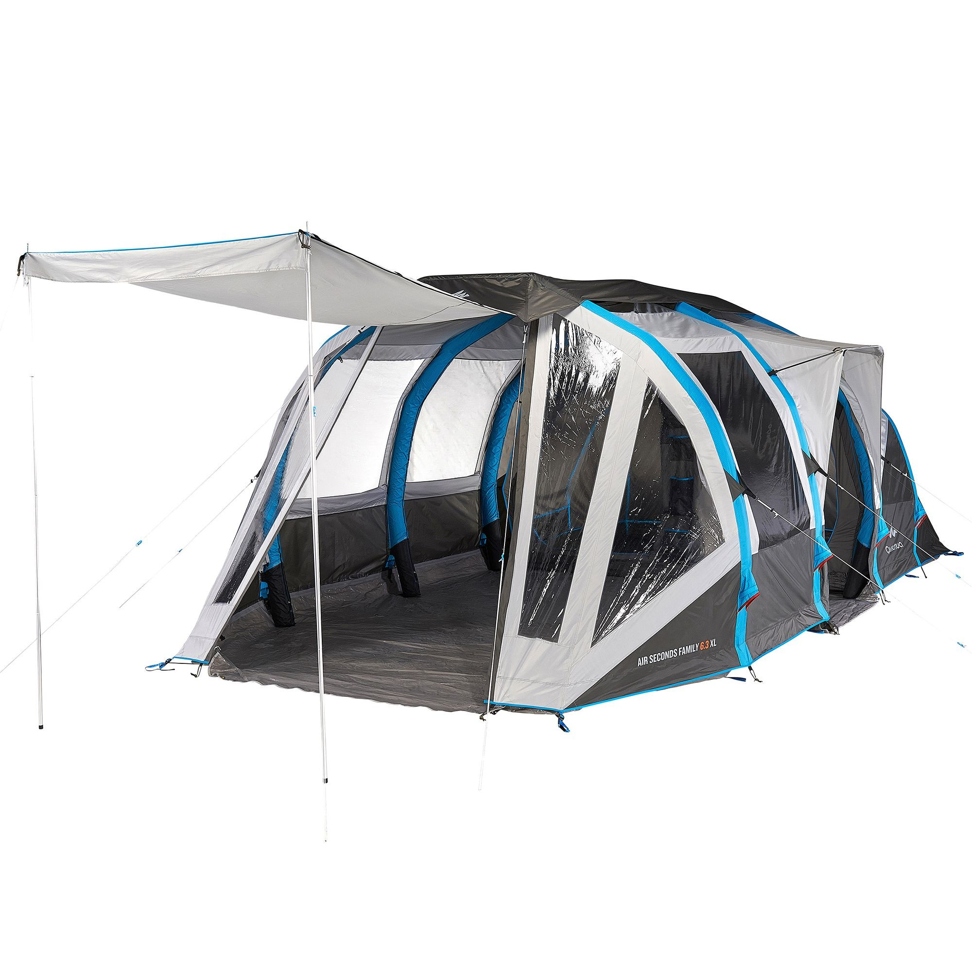 Tente air seconds family 6 3xl quechua tente decathlon for Tente 2 chambres decathlon