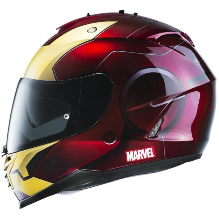 HJC IS 17 Iron Man Casque Intégral Rouge et Gold Licence Marvel