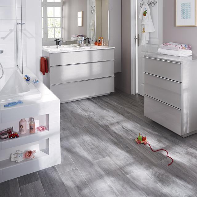 Meuble de salle de bains taupe Pamili - Meuble de salle de bains ...