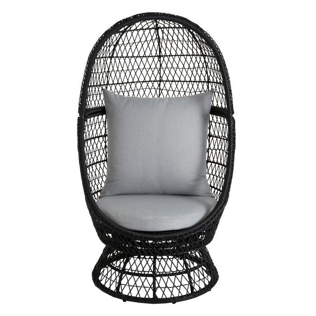 Fauteuil oeuf en rotin anya avec coussins fauteuil de for Fauteuil de jardin pas cher