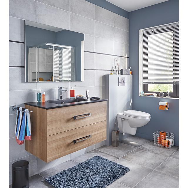ensemble de salle de bains suspendre lenca meuble de salle de bains castorama ventes pas. Black Bedroom Furniture Sets. Home Design Ideas