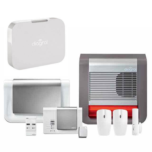 Système d'alarme maison DIAGRAL + Box alerte et pilotage - Castorama