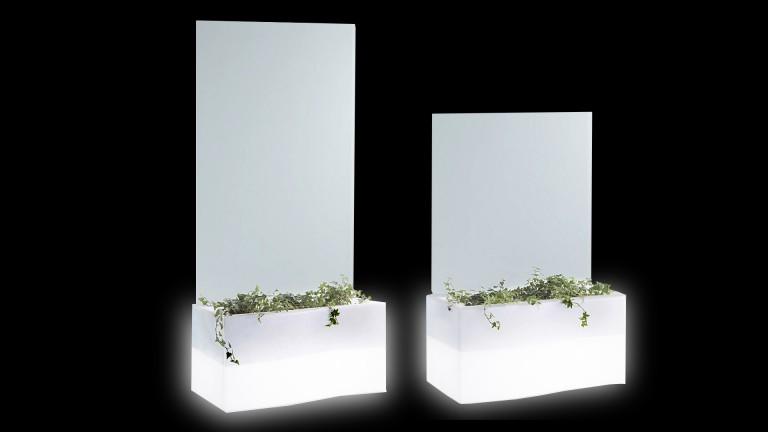 Jardinière cloison avec éclairage Privé en polyéthylène - Mobilier Moss