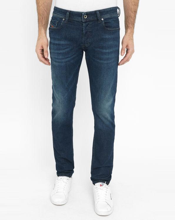 jean skinny bleu fonc sleenker diesel jeans homme. Black Bedroom Furniture Sets. Home Design Ideas